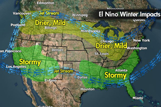 The forecast calls for rain during the upcoming El Nino winter